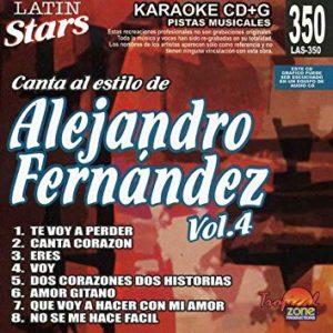Alejandro Fernandez Vol. 4 LAS 350 Karaoke Lovers