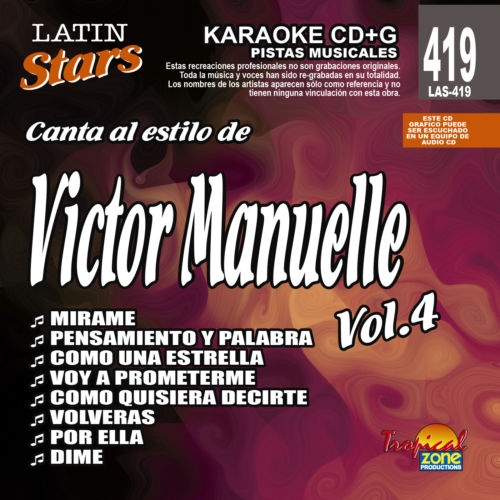 Victor Manuelle Vol. 4 LAS 419 Karaoke Lovers