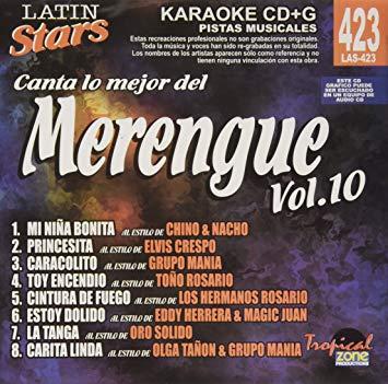 Merengue Vol. 10 LAS 423 Karaoke Lovers