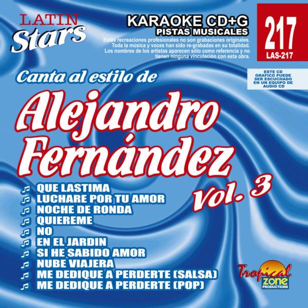 Alejandro Fernandez Vol. 3 LAS 217 Karaoke Lovers