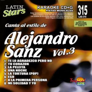 Alejandro Sanz Vol. 3 LAS 315 Karaoke Lovers